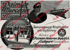 Orig Advertising Daimer Engines Air Force Pilot Airplane Mercedes Untertürkheim 1917