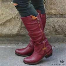 Women's Cowboy Knee Boots Punk Boots 60%Off Flash Sale