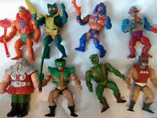 Motu Masters Of The Universe  He-man Action Figures.  Lot of 8