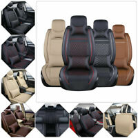 PU Leather Car Seat Cover 5-Seats SUV Cushions Front&Rear w/ Pillows Full Set US