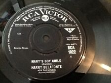 HARRY BELAFONTE . MARY'S BOY CHILD .  U.K. Number 1 HIT . NEAR MINT . Rare issue
