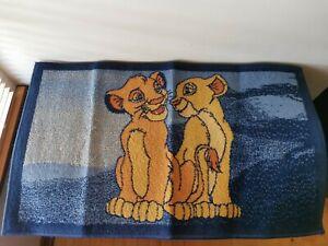 "RARE Vintage Disney The Lion King Simba Bedroom Rug Mat 39x23"" Collectible 90s"