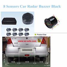 8 Sensors Buzzerr Alarm Alert Buzzle Load Car Parking Reverse Assistance Black