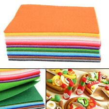 40pcs Assorted Color Soft Felt Fabric Sheets DIY Craft Patchwork Patches 15x15cm