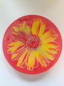 Rosenthal Studio Line, Glas Teller, Andy Warhol, Daisy, Vintag Designe