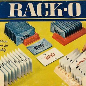 RACKO CARD GAME ~ Vintage 1966 Milton Bradley Company Card Game ~ 100% Complete