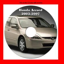 HONDA ACCORD 2003 - 2007 INCLUDING V6 WORKSHOP MANUAL DIGITAL DOWNLOAD