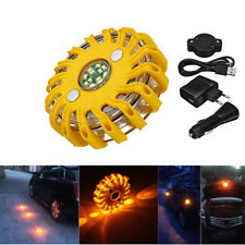 Rechargeable 16 LED Magnetic Emergency Hazard Warning Beacon 9 in1 Strob Light