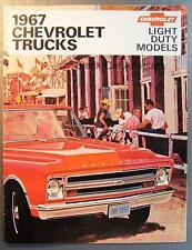1967 GMC Chevy Chevrolet Light Duty Pickups Trucks Vans Camper Brochure