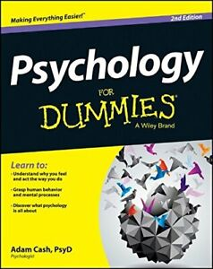 Psychology For Dummies by Cash, Adam Book The Cheap Fast Free Post