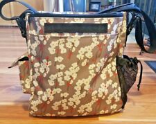 Skip Hop Beige with Flowers Diaper Bag w/ 2 Zip Pouches + Changing Pad