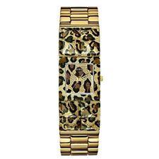 Guess Ladies U0052L2 Gold Tone & Animal Print Polycarbonate Bangle Watch