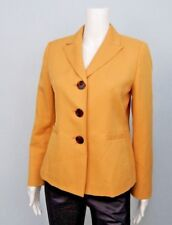 Kasper Womens Petite Mustard Yellow Blazer Jacket Sz 6P