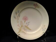 "Bavaria Germany Pink Thisile Pattern Round 7.5"" Salad Plate"