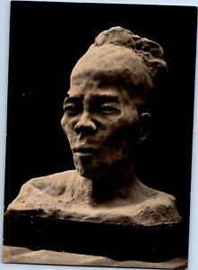 Afrique, sculpture féticheur Dahoméen Vintage silver print  Tirage argentique