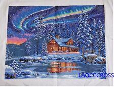 NEW Cross stitch beautiful aurora borealis finished completed cross stitch gifts
