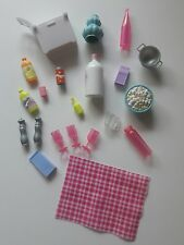 Barbie Accessories Lot Cooler Bottles Glasses Measuring Cup Strainer Salt Pepper