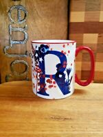 "Bella Floral Collection with letter ""R"" Coffee Tea Mug Cup 10 Strawberry Street"
