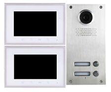 2 Familien 2 Draht Bus Video Türsprechanlage Weitwinkel Kamera 110° Hausklingel