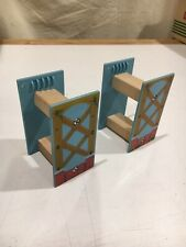 Two Wooden Spiral Track Supports Compatible w/ Thomas & Friends Wooden Railway