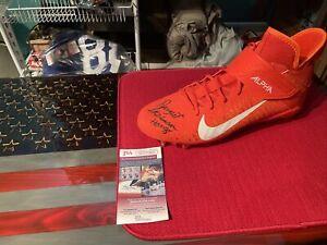 dewight stephenson signed Nike cleat . HOF 98 Inscribed . JSA COA