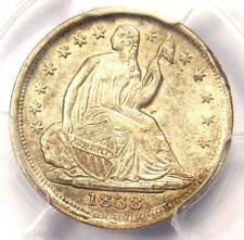 1838 Seated Liberty Half Dime H10C (Small Stars, No Drapery) - PCGS AU Details