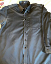 Louis Philippe Slim Fit  Long Sleeve Shirt Mens Size L 42/44 Solid Dark Blue