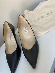 100% Genuine Jimmy Choo Black Heels (39.5)