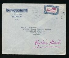 BRITISH EGYPT 1952 ADVERTISING ENVELOPE EL AFFENDT STORES KHARTOUM AIRMAIL