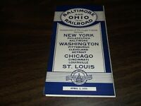 APRIL 1934 B&O BALTIMORE & OHIO RAILROAD SYSTEM PUBLIC TIMETABLE