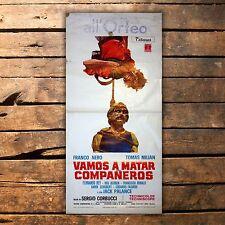 Original Movie Poster Vamos A Matar Companeros 33x70 CM Tomas Milian Franco Nero