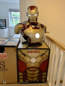 Sideshow Iron Man 3 MK42 Mark 42 1:1 Scale Hot Life Size Bust Statue Toys