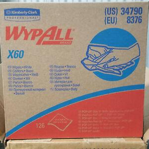 WypAll® Teri Wipers X60 Dispenser Box 9 x 17, Kimberly Clark 126 Wipes/Box NWT