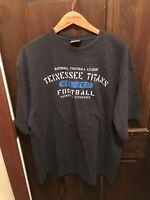 Vintage NFL Men's Tennessee Titans Short Sleeve T Shirt, Black, Large