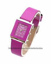 Omax Ladies Purple Dial Watch in Purple, Silver Finish, Seiko Movt RRP £49.99