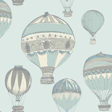 grandeco ideco Ballons à air chaud rayures motif Metalique Rouleau Papier peint