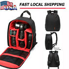 New Red Waterproof DSLR Camera Lens Backpack Case Bag For Nikon Canon Sony