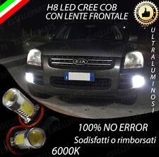 COPPIA LAMPADE FENDINEBBIA H8 LED CREE COB CANBUS KIA SPORTAGE II 6000K NO ERROR