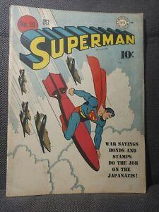 Superman 18   9/42   Classic WWII Japanazis War Bonds cover   VG+