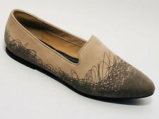 Camper Schuhe Nubuk Leder Slipper Größe 39 (UK 6) beige grau  Camper