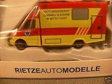 1/87 Rietze MB Sprinter RTW Rettungsdienst Corneli Mainz 61547