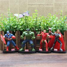 4 Pcs/Set The Avengers Iron Man Hulk Thor Action Figures Collectible Model Toy