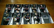 2015 NRL TRADERS PENRITH PANTHERS COMMON TEAM SET 10 CARDS