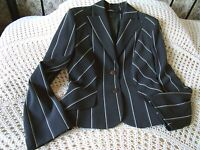 Two tone grey striped jacket by MANIFESTO Size 10 Labelled S