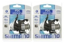 (2) Shimano FX 2500FB Spinning Fishing Reel Ratio: 4.6:1 Brand New In Pack