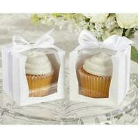 24Pcs Single Cupcake Cake Boxes & Display Window Box Cup Cakes Birthday Wedding