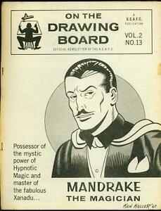 On the Drawing Board Fanzine Vol 2 #13 1967- Mandrake- Ken Keller VG