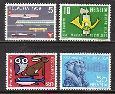 Switzerland - 1959 Events -  Mi. 668-71 MNH