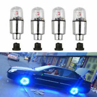 4x LED Wheel Tyre Tire Valve Dust Cap Light For Car Auto Motorcycle Bike Bicycle