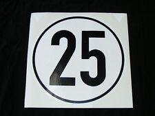 14 Aufkleber Sticker 25 kmh km/h 20cm Geschwindigkeit Auto Bus Pkw Schild